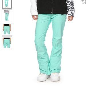 Aperture Crystal Mint 10K Stretch Snowboard Pants